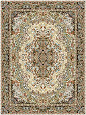 فرش ماشینی 1000 شانه 8 رنگ طرح گلستان
