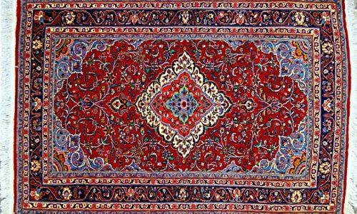 اوج زیبایی و ظرافت در فرش کاشان